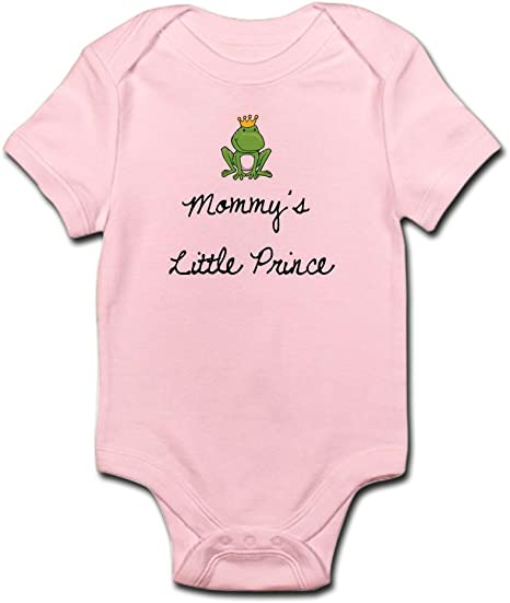 Custom Boy /& Girl Baby Bodysuit Prince Frog Sits Funny Cotton Striped Baby Clothes