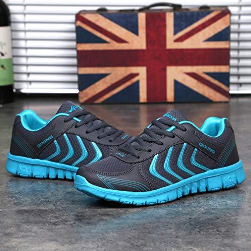 de Zapatos Al Hombres Sneakers Negro Deportivos Casuales Moda Ligero Libre Deportes Zapatillas Unisex Respirable C Zapatillas Mujeres Aire Running aqd7aw