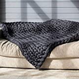 Best Ideas In Life Computer Cleaners - Chunky Knit Blankets Super Chunky Blanket Dark Grey,39x39inch Review