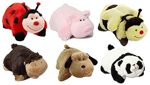 Pillow Pets Pee-Wees Plush Stuffed Animal Panda - Monkey ...