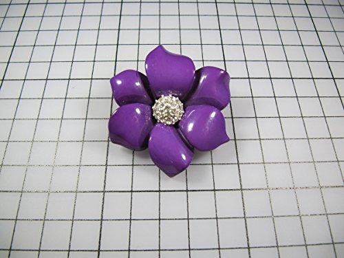 Mosaic Brooch Pin (usongs Violet acrylic resin noble solitary flowers center perspective mosaic flash diamond brooch pin badge brooch)