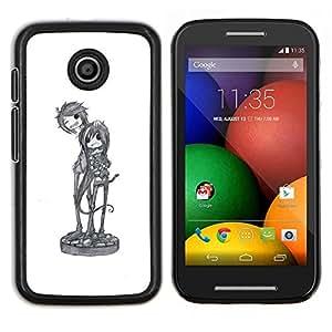 Dragon Case - FOR Motorola Moto E (1st Gen, 2014) - cool band music art character sketch - Caja protectora de pl??stico duro de la cubierta Dise?¡Ào Slim Fit