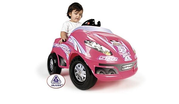 COCHE JUGUETE INJUSA SPEEDY CAR GIRL 6V ROSA 7142: Amazon.es ...
