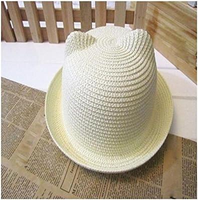 ❤️Amlaiworld Sombrero de Paja Playa Bebé niñas niño Gorro de Sol ... 00edcfa420f