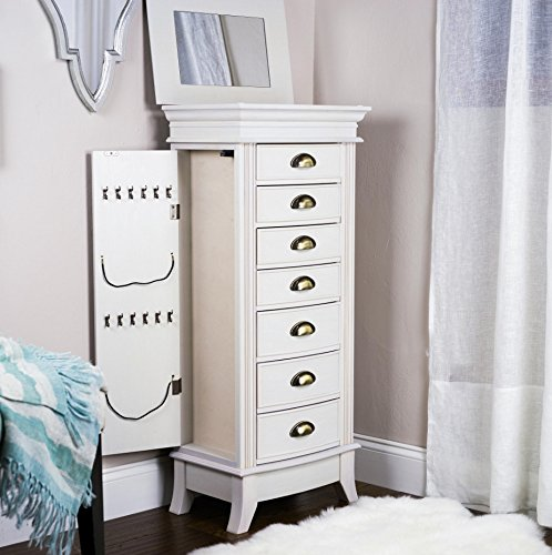 Hives and Honey ''Hillary'' White Jewelry Armoire (White)