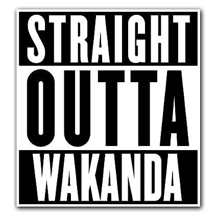 "Black Panther Straight Outta Wakanda Vinyl Sticker Decal 4/"" x 3.5/"""