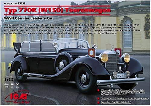 TOURENWAGEN W150 KIT ICM 1//35 35533 REF DAIMLER-BENZ TYPE 770K