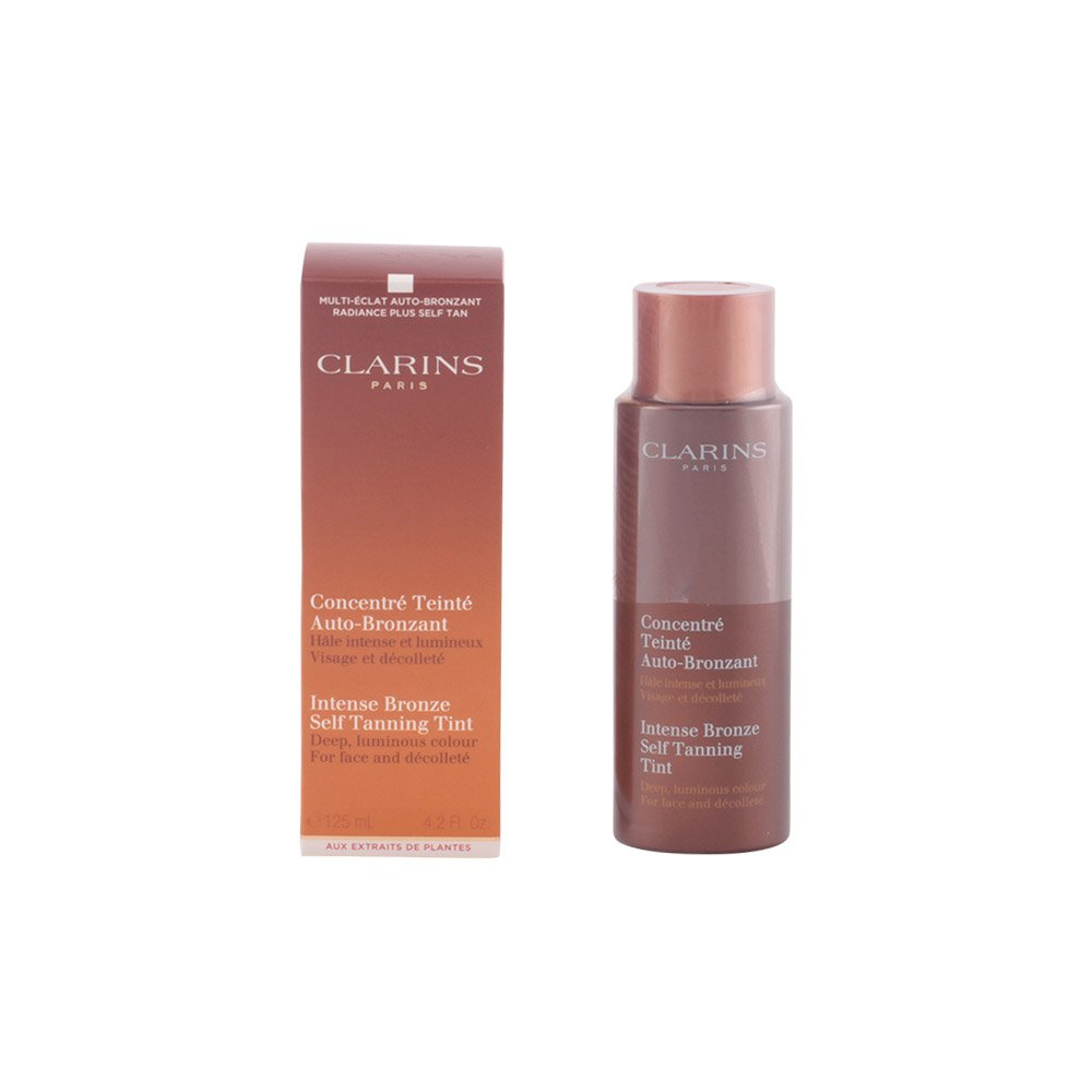 Clarins Intense Bronze Self Tanning Tint for Face and Decollete for Unisex, 4.2 Ounce