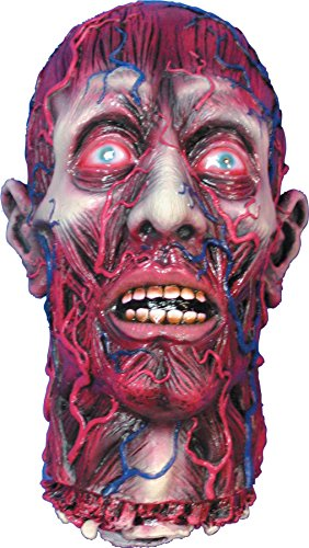 UHC Scary Skinned Alive Head Cemetery Decoration Latex Halloween -