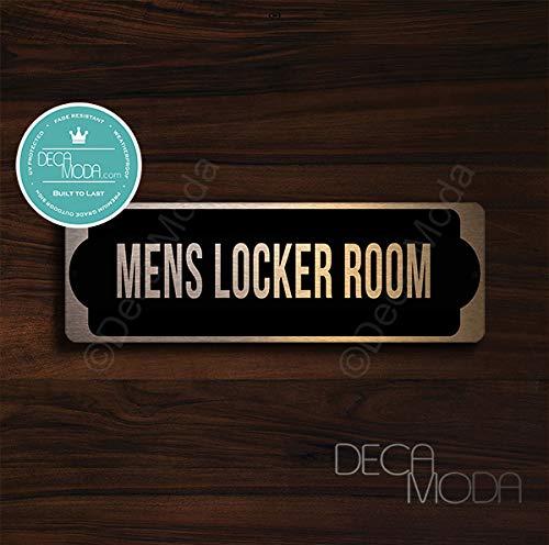 Deca Moda Mens Locker Room Door Sign, Signs for Business, Door Signs, Mens Locker Room Door Signs, Mens Locker Room Door, Copper Finish, 9 x 3 inches
