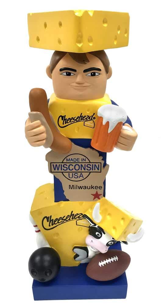 Original Cheesehead Sculpted Wisconsin Themed Garden Statue, 16 in. 845070TT