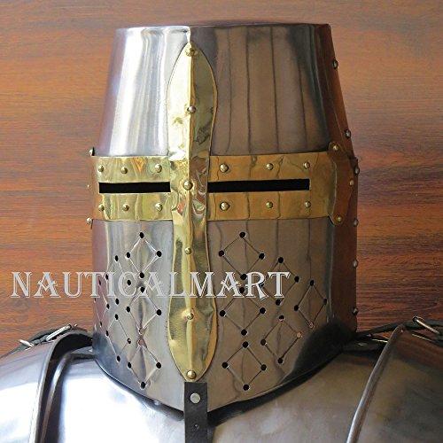 Medieval Templar Knight Crusader Armor Helmet by NAUTICALMART