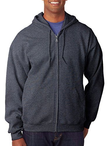 GILDAN Adult Heavyweight Blend Full-Zip Hooded Sweatshirt>M Dark (1 Adult Hooded Sweatshirt)