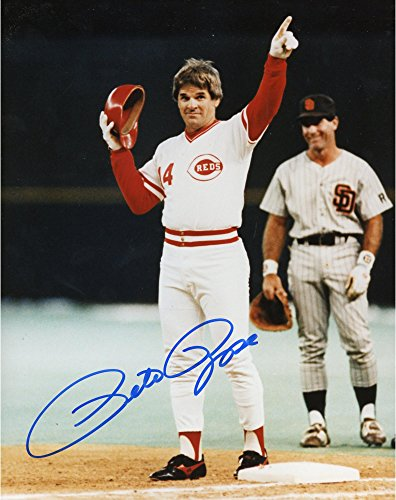 Pete Rose Cincinnati Reds Autographed 8'' x 10'' Pointing Up 4192 Photograph - Fanatics Authentic Certified