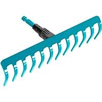 GARDENA combisystem hark: Praktische hark met 12 tanden, ideaal voor harken, onkruid verwijderen en grond bewerken…