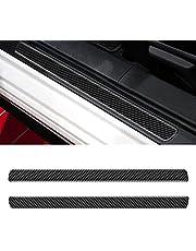 YAMUDA Compatible with Carbon Fiber Car Door Entry Guard Sticker Door Sill Protector Interior Accessories for Subaru BRZ Toyota 86 2016 2017 2018 2019 2020 (2PCS Black)