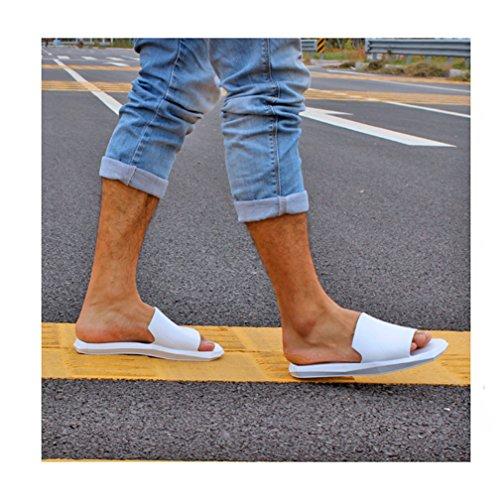 Hishoes - Zapatillas de estar por casa de Material Sintético para hombre Weiß