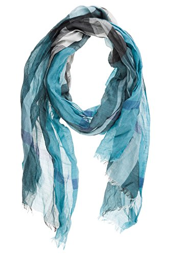 Burberry men's linen scarf mu gauze blu