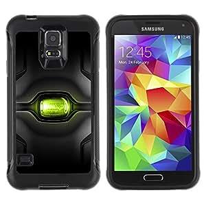 Paccase / Suave TPU GEL Caso Carcasa de Protección Funda para - Sci Fi Green Eye - Samsung Galaxy S5 SM-G900