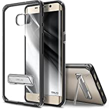 Galaxy S6 Edge Plus Case, OBLIQ [Naked Shield][Black] - with Kickstand Thin Slim Fit TPU Bumper Hard Hybrid Shock Resist Protective Crystal Clear Cover for Galaxy S6 Edge+