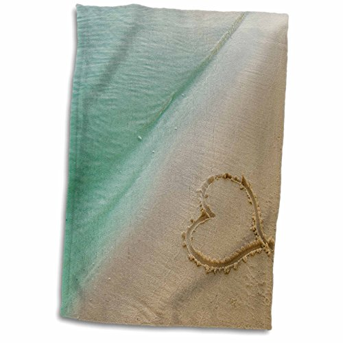 3dRose-Island-Swag-Designs-Love-Theme-Heart-Shape-Symbolizing-Love-Heart-Carved-in-Sand-on-the-Beach-Towel