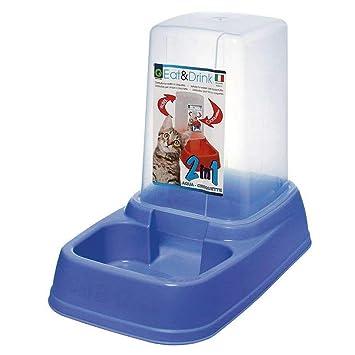 Eat & Drink - Dispensador de agua o croquetas para gatos o perros, tamaño XL