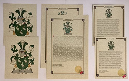 Vernazza - Last Name History and Coat of Arms from Italy Print Set (2 Pack) ()