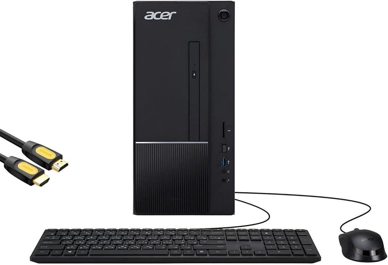 Mytrix Aspire TC by_Acer Business & Gaming Desktop, Intel 6-Core i5-10400, GeForce GT 730, 16GB DDR4 RAM, 256GB PCIe SSD+1TB HDD, USB-C, DVD, RJ-45, Wi-Fi 6, HDMI, Mytrix HDMI Cable, Win 10