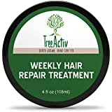 TreeActiv Weekly Hair Repair Treatment | Once A Week Natural Deep Conditioner | Revitalize Dry Damaged Fibers | Encourage Growth | Coconut Milk | Keratin | Vitamin B5 | Silk Aminos | Kukui Nut Oil