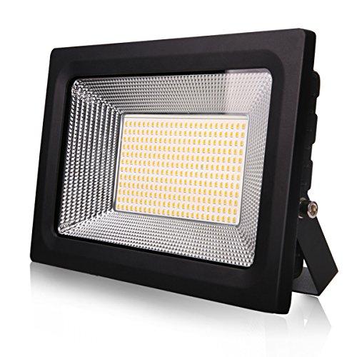 Lantoo 50 watt Led Flood Light Outdoor, Super Bright Work Lights IP65 Waterproof, 110V, 4500lm, 3000K Outdoor Floodlight for Garage, Garden, Lawn and Yard(Warm White) Review
