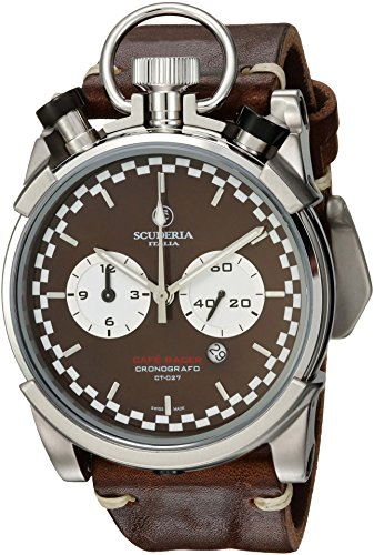 CT-Scuderia-Mens-Corsa-Caf-Racer-Swiss-Quartz-Stainless-Steel-and-Leather-Casual-Watch-ColorBrown-Model-CS20122