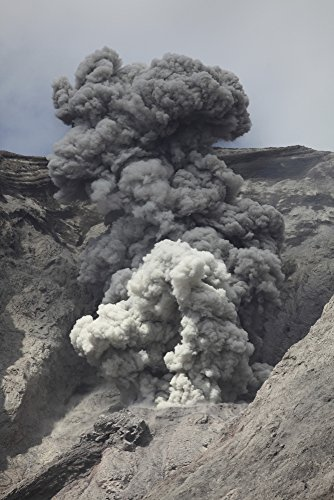 Posterazzi November 28 2012-Ash Cloud from Explosive strombolian Eruption Rising from Active Crater of Batu Tara Volcano Komba Island Indonesia. Poster Print, (22 x 34)