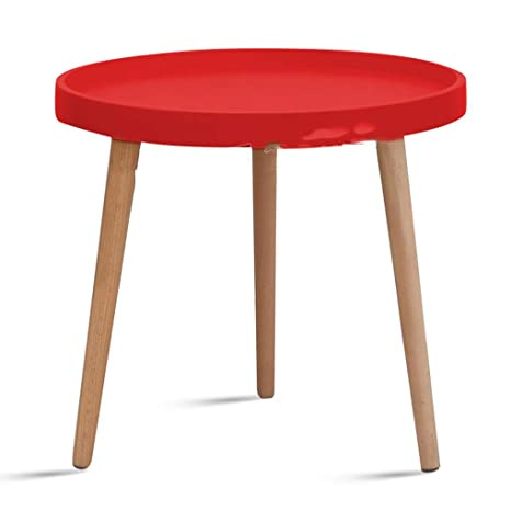 Surprising Aoeiuv Round Sofa Side Table Nordic Wood Triangle Frame Ncnpc Chair Design For Home Ncnpcorg