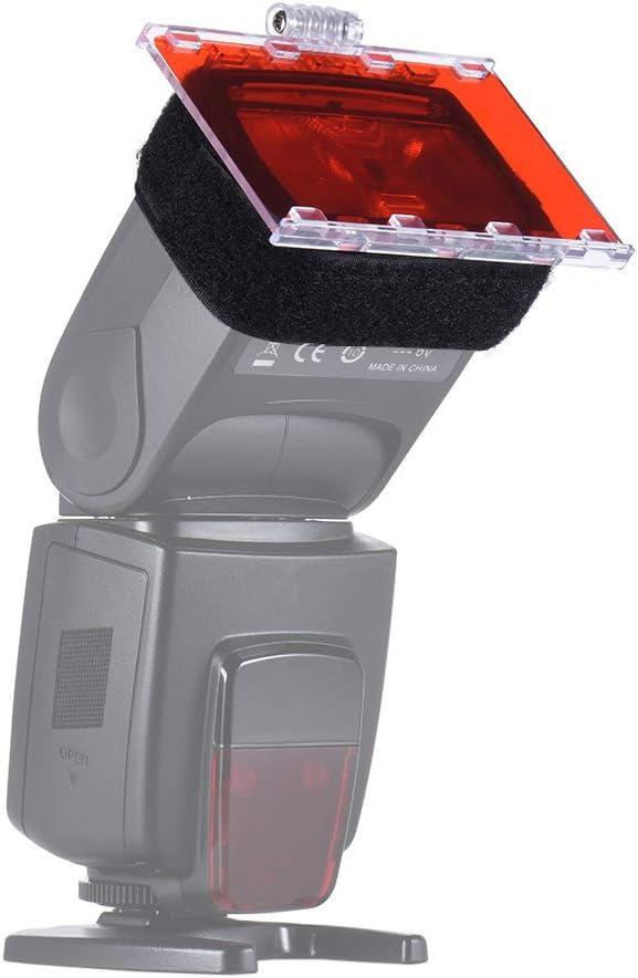 TPOTOO FalconEyes CFA-30K Speedlite Color Filter Gel Kit w//Silver Reflector Adjustable Mount Base for Canon Nikon Yongnuo Godxo Flash Light w//Carrying Bag 30 Sheets