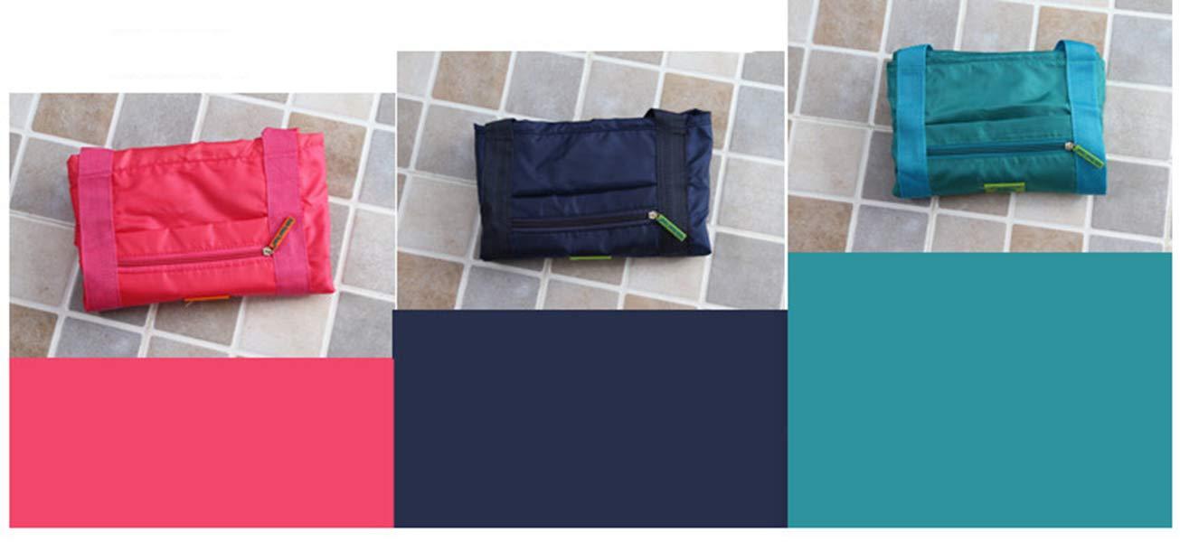 Foldable Travel Tote Duffel Bag Lightweight Travel Bag Weekend Waterproof Large Capacity Storage Luggage Organizer (Navy Blue) by Guyay (Image #5)