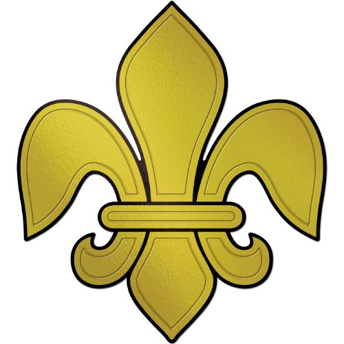 Embossed Foil Fleur De Lis Silhouette Party Accessory (1 count) -