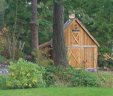 Candlewood Mini-Barn, Shed, Garage and Workshop - Pole Barn Plans Workshop Plan
