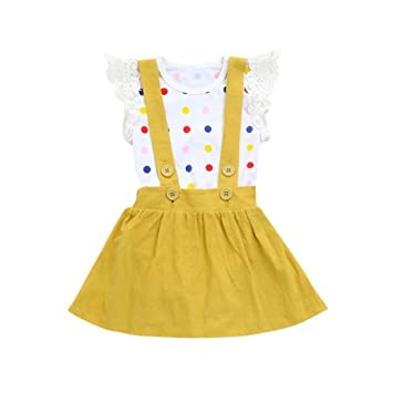 e41dd4b1aa26 Image Unavailable. Image not available for. Color  CCSDR Baby Girl Strap  Skirt+Romper ...