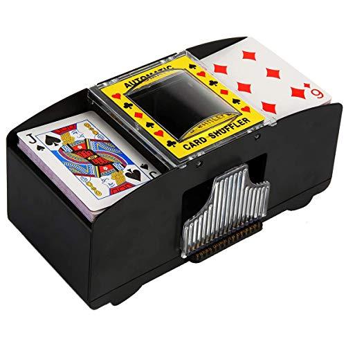 mezclador de cartas electrico automatico para 2 mazos