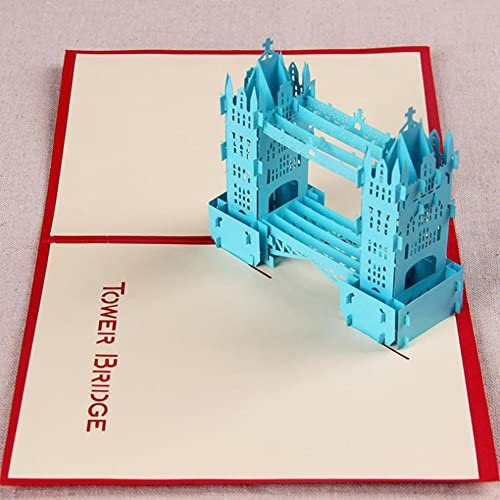 MADE4U The London Tower Bridge Kirigami Papercraft 3D Pop Up Card Anniversary Baby Birthday Easter Halloween Mother's Sales