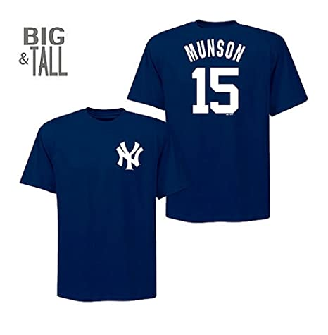 new arrival 20084 e15d5 Majestic New York Yankees Thurman Munson Big and Tall Player T-Shirt