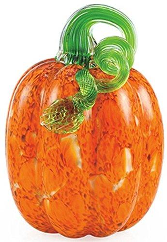 Handmade Glass Small Orange Mosaic Pumpkin - 5