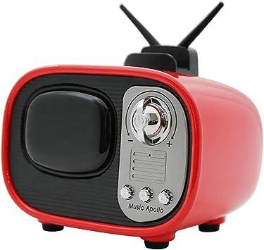 Mini Retro Televisor Bocina Bluetooth, Inalámbrico 4.2 Estéreo Sonido Soporte TF Tarjeta AUX Reducción De Ruido Inteligente, para Casa Al Aire Libre Viajar,3: Amazon.es: Electrónica