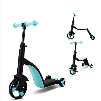QXPedal Patinete Plegable para niños, Scooter para niños ...
