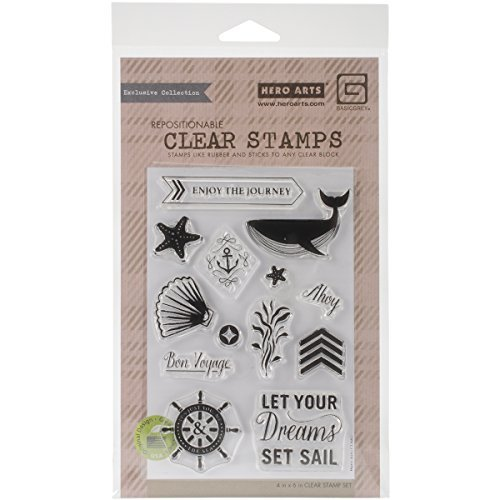Hero Arts Set Sail Stamp Set, Clear by Hero Arts