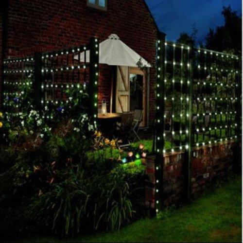 Lychee Solar powered string light 55ft 17m 100 LED Solar Fairy light string for Garden,Outdoor,Home,Christmas Party (17m 100Leds, Warm White)