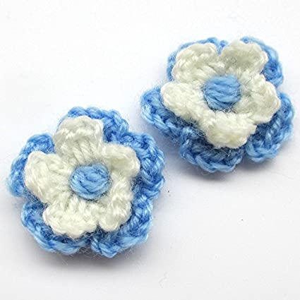 Amazon Chenkou Craft 20pcs 1 14 Crochet Flowers 2 Layer