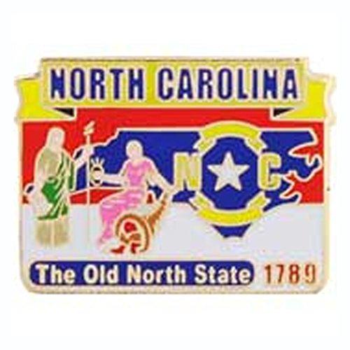 Metal Lapel Pin - USA State Maps - North Carolina