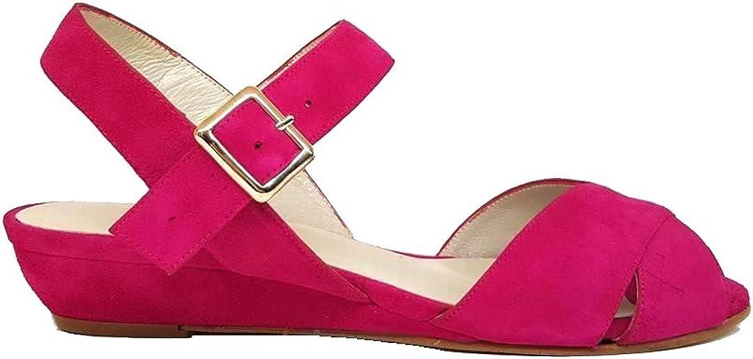JUANATE. - Sandalias Planas con Cuña para Mujer, Clavel (Rosa), Talla 44: Amazon.es: Zapatos y complementos
