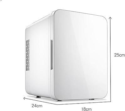 Colore : Bianca Sunjun Mini frigo silenzioso 4L Raffreddamento e riscaldamento